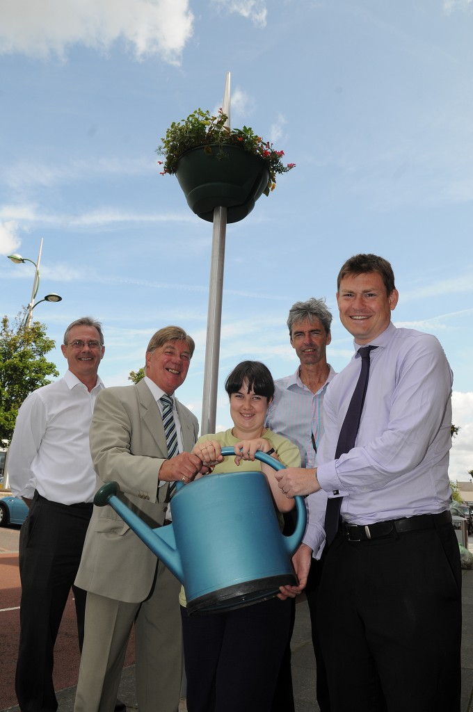 Les Lyon, Councillor Stuart Parker, Stephanie Ferns, Jochem Hollestelle and Councillor Justin Madders.